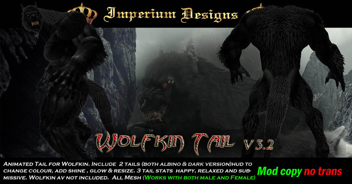 Wolfkin Tail v3.2(Animated)