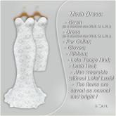 !Soul Mesh Gown- Mini- Gloves- Bolero- Lush- LolaTg- White Lace
