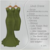 !Soul Mesh Gown- Mini- Gloves- Bolero- Lush- LolaTg-Tint Green