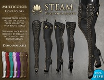 [ROSAL] STEAM Thigh Platform Boots - Multicolor (Mesh)