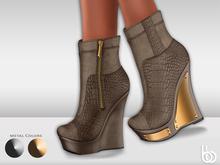 Bens Boutique - Lexi Wedges Lightbrown