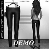 DE Designs - Simply Leather - Pants - DEMO