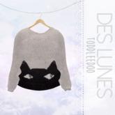 .dl. // peeking cat sweater
