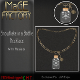 IMaGE Factory SnowFlake in a Bottle Necklace