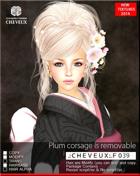 .:CHEVEUX:.F039 BLONDS HAIR SET
