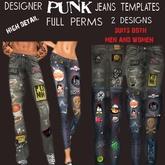 TD TEMPLATES Designer Punk Jeans - FULL PERMS