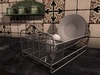 Dutchie mesh vintage metal dish rack with 2 plates, 2 cups and 2 spoons