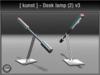 [ kunst ] - Desk lamp (2) v3 / silver