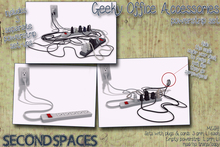 *Second Spaces* Geeky Office Accessories - power strips (bxd1)