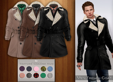 Bens Boutique - Men Trench Coat (shirt texture change)
