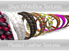 **Skye WhiteBox Textures  Big Value! 118 Pleated Leather-  Full Perms Leather Textures
