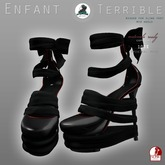 .Enfant Terrible. wrapped heels black