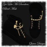Get Like Me Sneakers Black Mesh