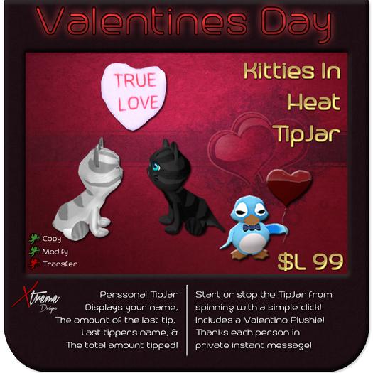 ♥♥♥ Kitties in Heat TipJar ♥♥♥ Valentine's Day