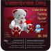 ♥♥♥ Valentine Teddy TipJar ♥♥♥ Valentine's Day Teddy Bear