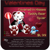 ♥♥♥ Covered In Kisses Teddy TipJar ♥♥♥ Valentine's Day