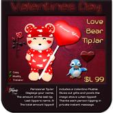 ♥♥♥ Love Bear TipJar ♥♥♥ Valentine's Day