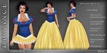 * Deviance *  Snow White Fairytale Costume
