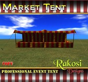 Big Top Market Tent - Red and Yellow - COPY - Market Tents for Vendor Booths for Carnivals Outdoor Sales Events