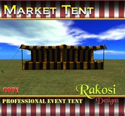 Big Top Market Tent - Black and Yellow - COPY - Market Tents for Vendor Booths for Carnivals Outdoor Sales Events