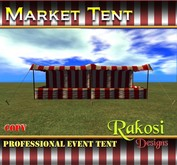 Big Top Market Tent - Red and White - COPY - Market Tents for Vendor Booths for Carnivals Outdoor Sales Events