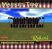 Big Top Market Tent - Black and White - COPY - Market Tents for Vendor Booths for Carnivals Outdoor Sales Events