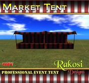 Big Top Market Tent - Black and Red - COPY - Market Tents for Vendor Booths for Carnivals Outdoor Sales Events