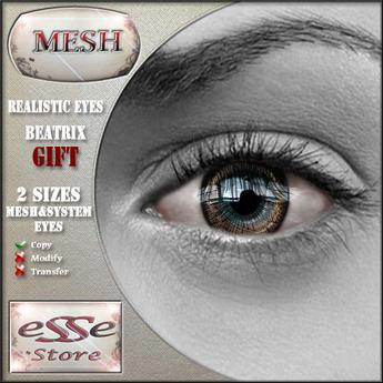 .:eSSe STORE:. GIFT - Beatrix - Realistic Mesh Eyes