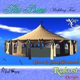 Tente Wedding Dream Blue w / Bows & SWAG-(bleu et blanc)