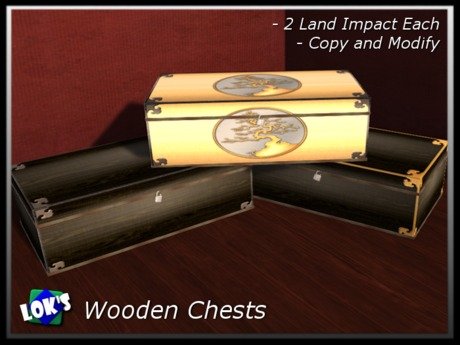 Lok's FREE Wooden Chests - set of 3 chests