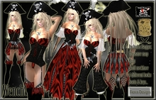 ::FIERCE DESIGNS::PIRATES WENCH COSTUME::