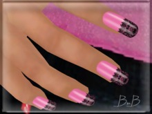 ::BnB:: Nailz ~Amour PINK~ prim nails for Valentines PROMO