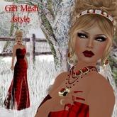 RED NOEL DRESS MESH+SKIN+SHAPE+JEWELRY