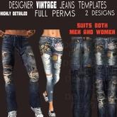 TD TEMPLATES Designer Vintage Jeans Templates - FULL PERMS