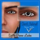 SUBTLE BROWN Unisex Short Natural Eyelashes (Without Eyeliner) - Tattoo Layer