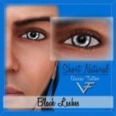 BLACK Unisex Short Natural Eyelashes (Without Eyeliner) - Tattoo Layer