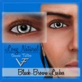 BLACK-BROWN Unisex Long Natural Eyelashes (Without Eyeliner) - Tattoo Layer