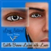 SUBTLE BROWN Unisex Long Natural Eyelashes With Eyeliner - Tattoo Layer