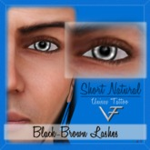 BLACK-BROWN Unisex Short Natural Eyelashes (Without Eyeliner) - 2.0 Tattoo Layer