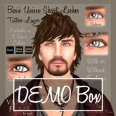 DEMOs of 6 Basic Unisex Short Eyelashes with & without Eyeliner - 3 basic colors DEMOs ONLY