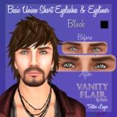 Basic Unisex Short Eyelashes & Eyeliner in Black