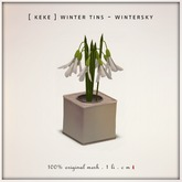 [ keke ] winter tea tin - snow drop flowers - mesh - 1 LI - DOLLARBIE