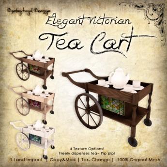 [DDD] Elegant Victorian Tea Cart