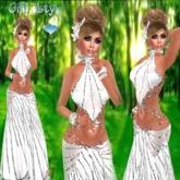 GALA DRESS WHITE+SKIN+SHAPE+JEWELRY JSTYLE