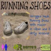 Running Shoes Black Grey