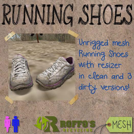 Running Shoes Purple Blue