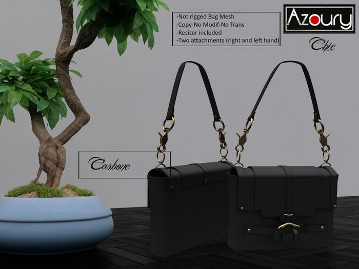 AZOURY - Chic Bag (Carbon)
