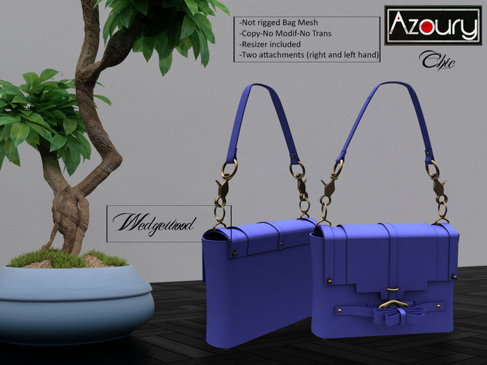AZOURY - Chic Bag (Wedgewood)