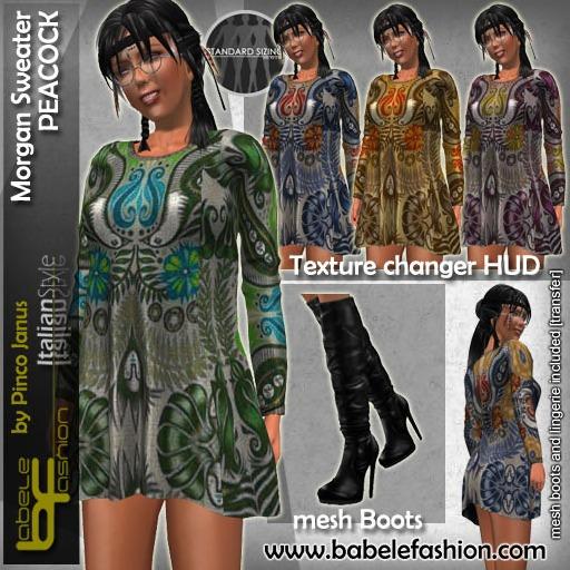 Babele Fashion Morgan Sweater Peacock