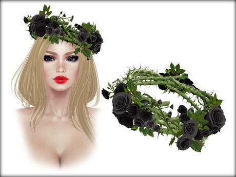 Boudoir -Roses Thorn Wreath Black